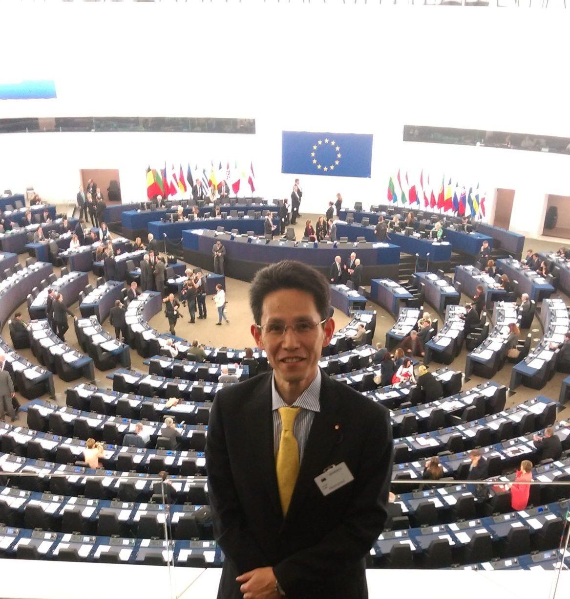 日本・EU議員会議 委員派遣 欧州議会議場